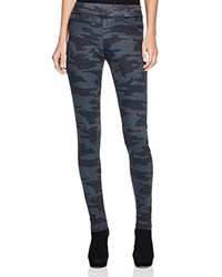 James Jeans Pull On Leggings In Camouflage Blue Camo