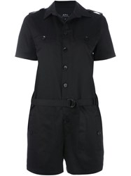 A.P.C. Belted Playsuit Black