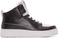 3.1 Phillip Lim Black And White Pl31 High Top Sneakers