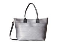Harveys Seatbelt Bag Mini Streamline Dove And White Dot Tote Handbags Silver