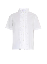 Red Valentino Frill Front Box Fit Shirt