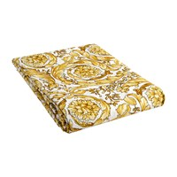 Versace Barocco 14 Fitted Sheet 200X205cm White Gold