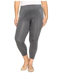 Hue Plus Size Seamless Shaping Capris Thunder Women's Capri Multi