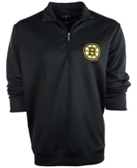 Antigua Men's Boston Bruins Quarter Zip Pullover Black
