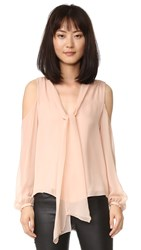 Haute Hippie Vida Cold Shoulder Top Pale Pink
