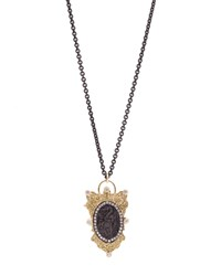 Armenta Old World 18K Diamond Filigree Shield Pendant Necklace Women's