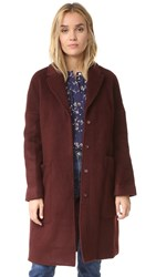 Steven Alan Chrome Coat Dark Burgundy