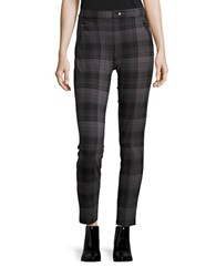 Kensie Jeans Plaid Ponte Leggings Magnet