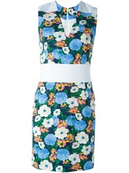 Carven Fitted Floral Dress White