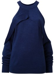 Dion Lee 'Sleeve Release' Sweater Blue