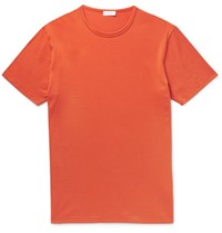 Sunspel Unpel Lim Fit Cotton Jerey T Hirt Orange