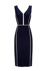 Wallis Split Shift Dress Navy