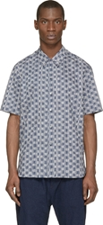 Lemaire Navy Printed Shirt