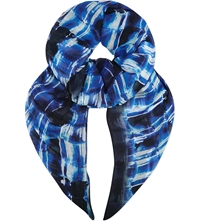 Karen Millen Graphic Print Scarf Blue Multi