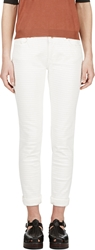 Avelon Ivory Painted Stripe Neon Jeans