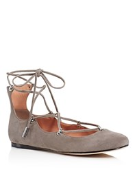 Sigerson Morrison Elias Lace Up Ballet Flats Gray