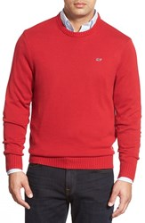Men's Vineyard Vines 'Whale' Classic Fit Cotton Crewneck Sweater Vermilion