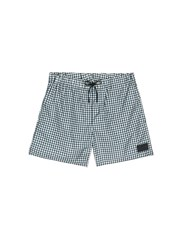 Acne Studios 'Perry' Gingham Check Print Swim Shorts Grey