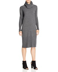 Dkny Pure Cowl Neck Merino Wool Sweater Dress Charcoal Heather