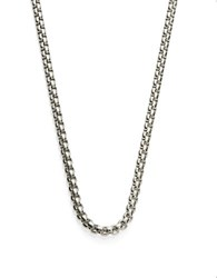 Zack Woven Round Chain Necklace Stainless