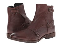 Frye Ethan Triple Monk Dark Brown Buffalo Leather Men's Dress Pull On Boots