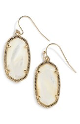 Women's Kendra Scott 'Dani' Drop Earrings Ivory Mother Of Pearl Gold