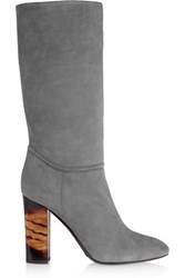 Burberry London London Suede Boots Gray