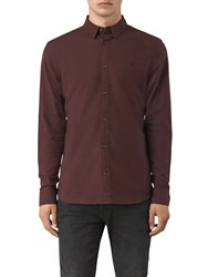 Allsaints Hungtingdon Slim Fit Shirt Damson Red