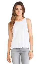 Enza Costa Tissue Jersey Crop Tank White