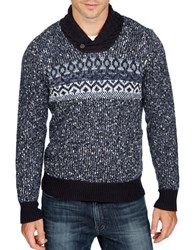 Lucky Brand Snowshow Cashmere Blend Sweater Blue Multi