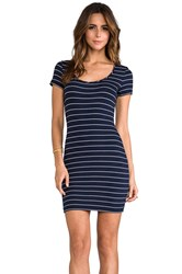 Saint Grace Clover Stripe Mini Dress Navy