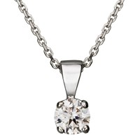 Ewa Diamond Pendant Necklace 0.30 Carat White Gold
