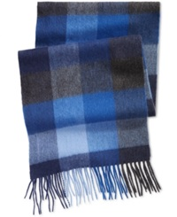 Club Room Color Blocked Cashmere Scarf Only At Macy's Blue