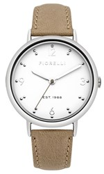 Fiorelli Ladies Taupe Leather Strap Watch