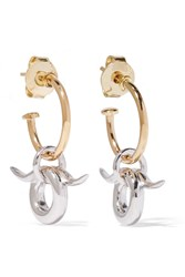 Charlotte Chesnais Horn Gold Plated And Silver Earrings