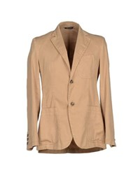 Betwoin Suits And Jackets Blazers Men Camel