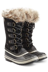 Sorel Joan Of Arctic Tall Boots With Faux Fur Black