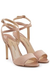 Paul Andrew Suede Sandals Pink