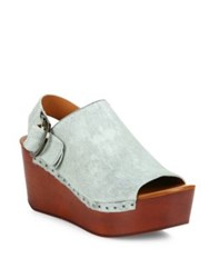 Derek Lam Fiona Calf Hair Platform Slingback Clogs Cloud