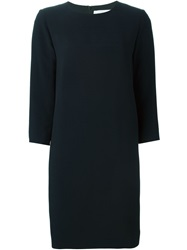 Gianluca Capannolo Three Quarter Sleeve Shift Dress Blue