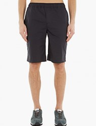 Our Legacy Navy Relaxed Cotton Shorts