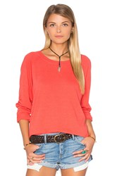 Nation Ltd. Raglan Sweatshirt Coral