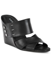 Kelsi Dagger Morten Strappy Wedge Sandals Women's Shoes Black