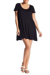 Final Touch Textured Knit Swing Dress Plus Size Black