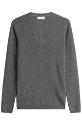 Brunello Cucinelli Cashmere Pullover With Elbow Patches Grey