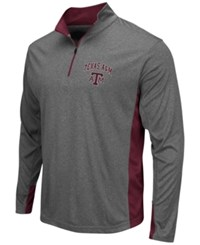 Colosseum Men's Texas A And M Aggies Ridge Runner Quarter Zip Pullover Gray