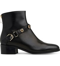 Lk Bennett Leah Leather Ankle Boots Bla Black