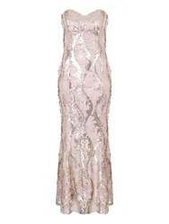 Jane Norman All Over Sequin Maxi Dress Neutral