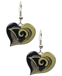 Aminco St. Louis Rams Swirl Heart Earrings