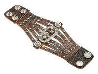 Leather Rock B687 Patina Bracelet Brown